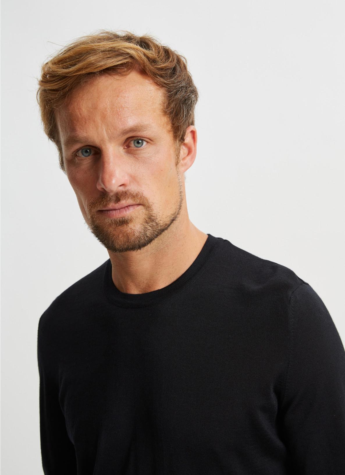 Pullover Rundhals 1/1 Arm, BlackDetailansicht 1
