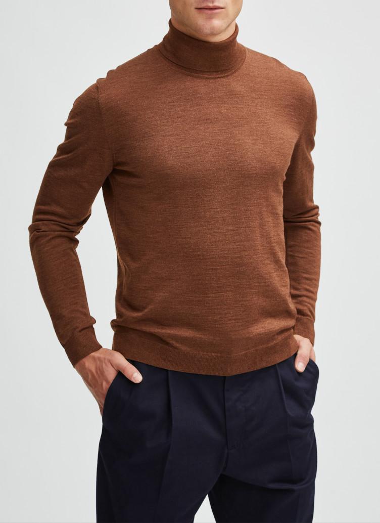 Rollkragen Pullover Merino Silk Cashmere / Pullover Rollkragen 1/1 Arm